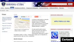 Ante el restablecimiento de las relaciones diplomáticas con la reapertura de su embajada en Cuba, el gobierno de Estados Unidos también actualizó su página web ahora como embajada.