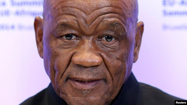 FILE - Lesotho's Prime Minister Thomas Thabane attends a European Union-Africa summit in Brussels, Apr. 2, 2014.