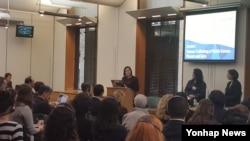 지난해 영국 의회에서 열린 북한 여성 인권 관련 행사 모습(자료사진)