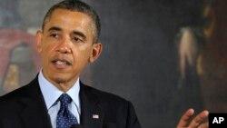 내일 (10일) 2014년도 예산안 공개를 앞두고 있는 바락 오바마 미국 대통령. (자료사진)