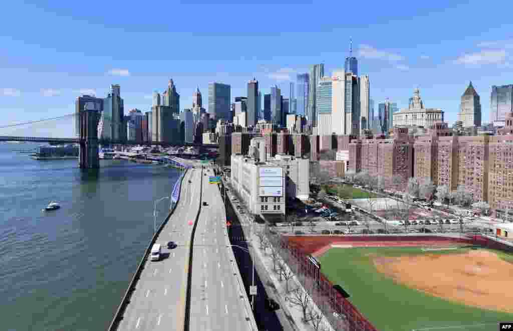 Забавен или воопшто без сообраќај во Њујорк. Ретка глетка.