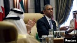 باراک اوباما در جمع سران شش عضو شورای همکاری کشورهای عرب خلیج فارس سخنرانی کرد.