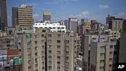 General view of buildings in the Central Business District of Johannesburg (March 2010 file photo).