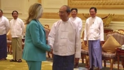 Clinton meets with Myanmar's President Thein Sein in Naypyitaw, December 1, 2011
