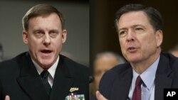 Šef Nacionalne bezbednosne agencije, admiral Majkl Rodžers i direktor FBI Džejms Komi u ponedeljak svedoče pred kongresnim Odborom za obaveštajna pitanja
