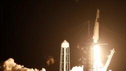 နိုင္ငံတကာအကာသစခန္းကို SpaceX ရဲ႕ Crew Dragon အကာသယဥ္ ေစလႊတ္