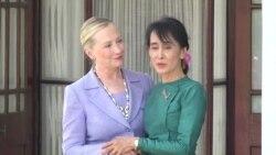 Clinton Visits Burmese Democracy Leader