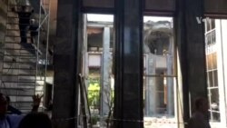 View Inside Bombed Turkish Parliament Building