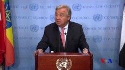 聯合國秘書長呼籲在北韓問題上減少對抗言論