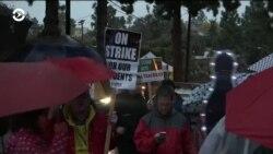 Забастовска учителей в Лос-Анджелесе