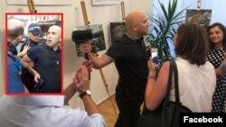 გრემ ფილიპსი ლონდონში საქართველოს საელჩოში შეჭრის შემდეგ დააპატიმრეს; თამარ კარელიძის ფოტო