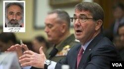 """به گفته اشتون کارتر وزیر دفاع آمریکا، """"عبدالرحمن القادولی"""" در حمله هوایی ائتلاف به رهبری آمریکا در سوریه کشته شده است."""