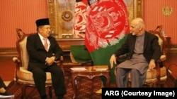 افغان صدر اشرف غني او د انډونيشيا مرستيال صدر