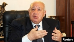 Mohamed Abu Shadi, Egypt's new supply minister, speaks to the media at his office in Cairo, July 17, 2013.