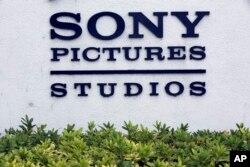 美国加州的索尼电影制片厂的牌子
