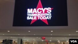 A sign inside Macy's Herald Square on Thanksgiving, Nov. 28, 2013. (Photo Sandra Lemaire)