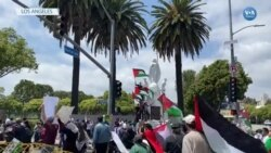 Los Angeles'ta İsrail'i Protesto Gösterisi