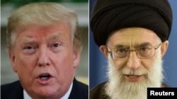도널드 트럼프 미국 대통령과 이란 최고지도자 아야톨라 알리 하메네이.