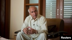 Abdul Malik, new chief minister of Baluchistan, gestures during an interview with Reuters in Islamabad, Pakistan, June 6, 2013.
