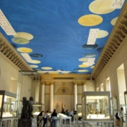 Cy Twombly's new painting is in one of the oldest areas of the Louvre Museum