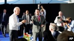 Президент США Джо Байден завершает пресс-конференцию в Женеве, 16 июня 2021 г. (фото AP/Patrick Semansky)