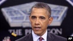새 국방전략에 대해 설명하는 오바마 대통령
