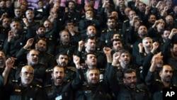 Para komandan Garda Revolusi Iran (foto: dok). Garda Revolusi, pasukan militer terkuat Iran, memimpin dua badan intelijen dalam struktur intelijen Iran.