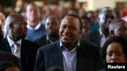 Tổng Thống tân cử Kenya Uhuru Kenyatta.
