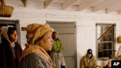 An interactive history program in Indiana recreates the journey to freedom endured by escaped southern slaves during the 19th-century.