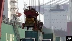 中國一個繁忙港口。
