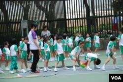 香港幼稚園學童 (湯惠芸攝)