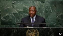 Le président Ali Bongo devant l'ONU, à New York, le 28 septembre 2015.