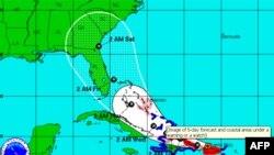 Lệnh theo dõi bão đang có hiệu lực tại các quần đảo Virgin thuộc Hoa Kỳ, và vùng trung bộ Bahamas.