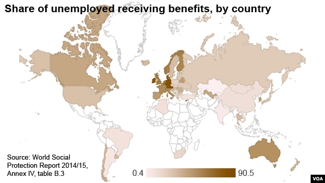 Share of Unemployed People Receiving Benefits
