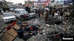 بم دھماکوں سے ہونے والی ہلاکتوں کے بعد کوئٹہ میں سوگ
