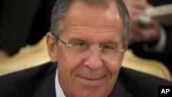 El canciller ruso, Sergei Lavrov, hizo declaraciones al canal de televisión de Moscú TVC.
