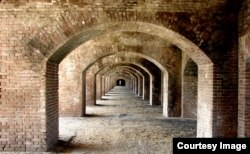 Once a base to fight piracy, Fort Jefferson in Florida is now a tourist attraction. (Photo courtesy of Geotab)