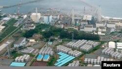 20일 일본 후쿠시마 원자력 발전소의 항공 사진. 방사능 오염수를 저장하기 위한 지상 물탱크가 빼곡히 들어차있다.