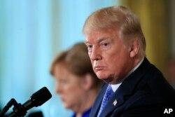 Donald Tramp və Angela Merkel