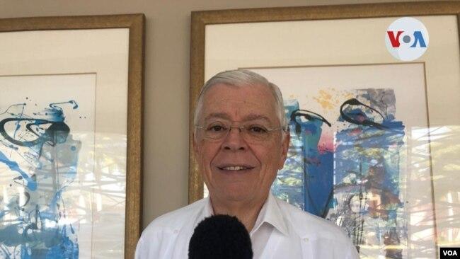 Francisco Aguirre Sacasa, excanciller de Nicaragua. [Foto: Daliana Ocaña, VOA]