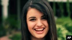 Pop singer Rebecca Black