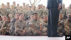 Tropas americanas em Camp Lemonnier, Djibouti