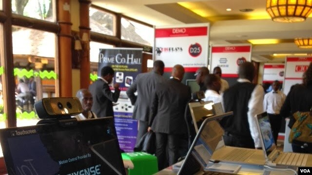 Tech companies showcase their latest innovations at Demo Africa in Nairobi, Kenya, Oct. 24, 2013. (G. Joselow/VOA)