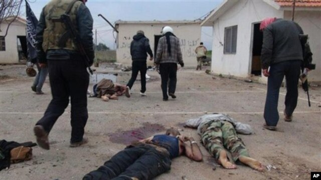 Idlib viloyati, Suriya. 11-yanvar, 2013-yil.
