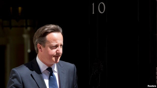 Britain's Prime Minister David Cameron at Downing Street, London, June 6, 2013.