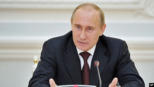 Russian Prime Minister Vladimir Putin during a meeting with the main Kremlin party United Russia in Moscow, April 24, 2012.