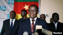 Maurice Kamto à Yaoundé au Cameroun le 8 octobre 2018.