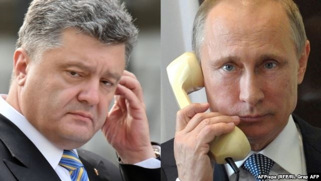 Ukraine's Petro Poroshenko and Russia's Vladimir Putin have discussed Ukraine conflict.