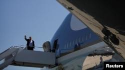 Дональд Трамп перед вильотом до Техасу