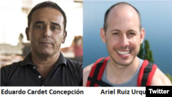 Cuban political prisoners Ariel and Cardet (File)